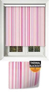 Melia Pink Wooden Blind