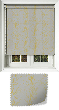 Metallic Branches Citrine Replacement Vertical Blind Slat
