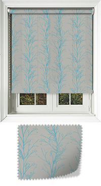 Metallic Branches Cobalt Vertical Blind