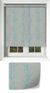 Metallic Branches Cobalt Roller Blind