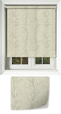 Metallic Branches Ecru Venetian Blind