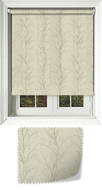 Metallic Branches Ecru Replacement Vertical Blind Slat