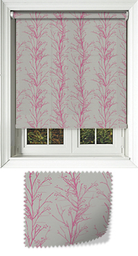 Metallic Branches Fuschia Bifold Doors Blind