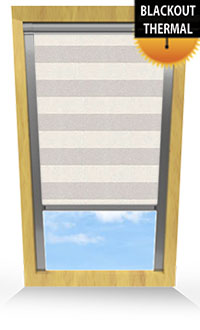 Metallic Stripe Beige Motorised Roller Blind