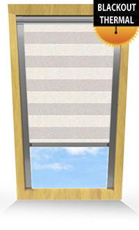 Metallic Stripe Beige Replacement Vertical Blind Slat