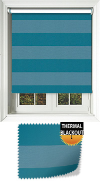 Metallic Stripe Jade Cordless Roller Blind