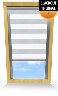 Metallic Stripe Light Grey Motorised Roller Blind