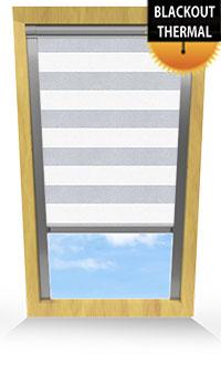Metallic Stripe Light Grey Cordless Roller Blind