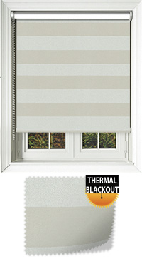 Metallic Stripe Opal Motorised Roller Blind