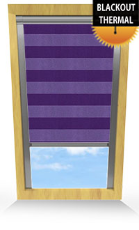 Metallic Stripe Purple Cordless Roller Blind