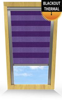 Metallic Stripe Purple Skylight Blind