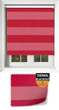 Metallic Stripe Ruby Bifold Doors Blind