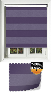 Metallic Stripe Vibe Cordless Roller Blind