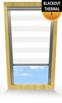 Metallic Stripe White Roller Blind