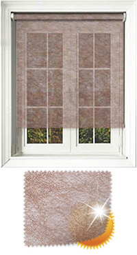 Metallic Weave Copper Roller Blind