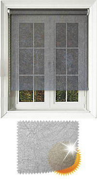Metallic Weave Silver Skylight Blind
