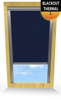 Midnight Blue Cordless Roller Blind