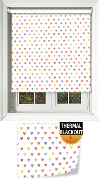 Mini Hearts Roller Blind