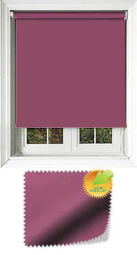 Mirage Solar Aubergine Motorised Roller Blind