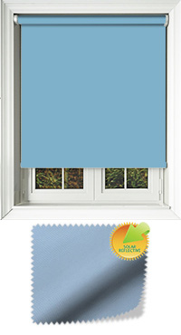 Mirage Solar Blue Wooden Blind