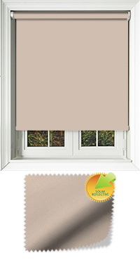 Mirage Solar Dark Beige Cordless Roller Blind