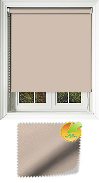 Mirage Solar Dark Beige Bifold Doors Blind