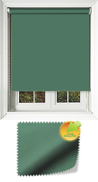 Mirage Solar Hunter Green Roller Blind