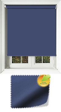Mirage Solar Navy Cordless Roller Blind