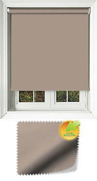 Mirage Solar Taupe Wooden Blind