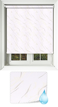 Negev White Bifold Doors Blind