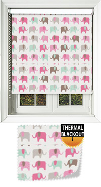 Nellie Elephant Candy Skylight Blind