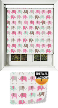 Nellie Elephant Candy Vertical Blind