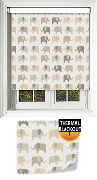Nellie Elephant Honey Vertical Blind