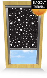 Night Sky Black Wooden Blind