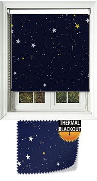 Night Sky Blue Cordless Roller Blind