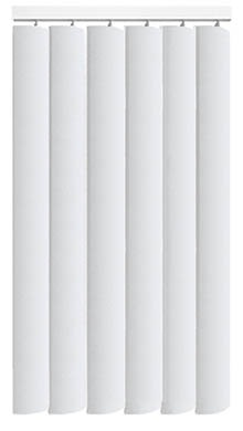 Nova Brilliant White Replacement Vertical Blind Slat