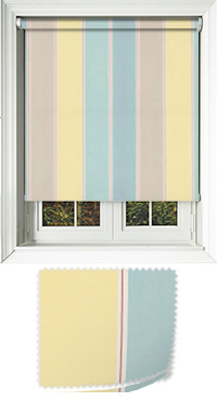 Obsession Aqua Vertical Blind