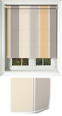 Obsession Natural Bifold Doors Blind