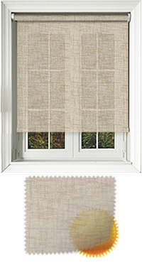 Sheer Grain Hessian Bifold Doors Blind