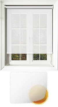 Sheer Grain White Vertical Blind