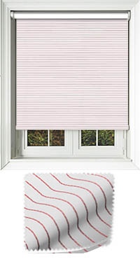Orchestra Redcurrant Cordless Roller Blind
