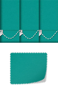 Origin Bright Turquoise Motorised Roller Blind
