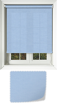 Origin Light Blue Motorised Roller Blind