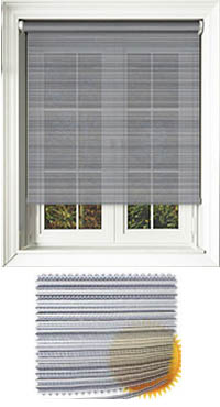 Padre Graphite Motorised Roller Blind