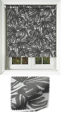 Palm Noir Roller Blind