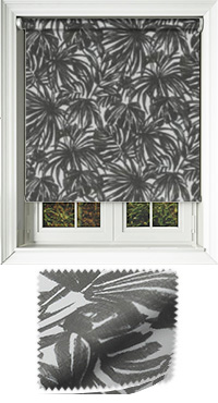 Palm Noir Vertical Blind