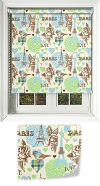 Parisian Lime Bifold Doors Blind