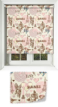 Parisian Pink Cordless Roller Blind