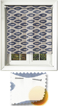 Pebbles-Sheer Blue Bifold Doors Blind