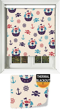 Pirates Time Bifold Doors Blind